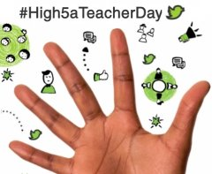 Teachers prepare for #High5aTeacherDay, taking place on 1st July