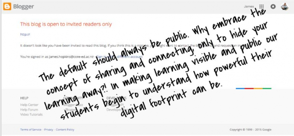 Using blogs to make learning visible