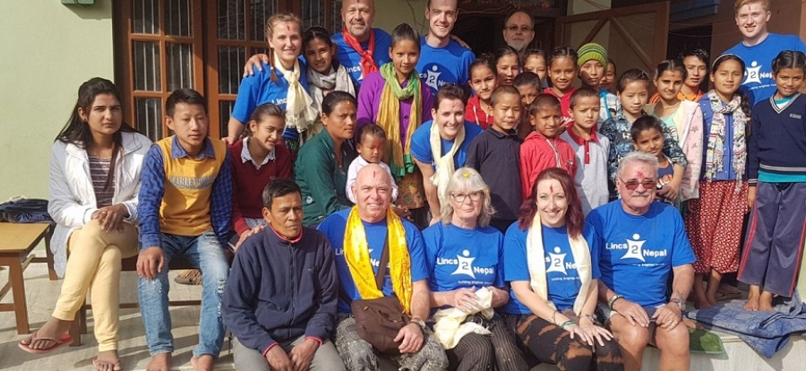 Images courtesy of interviewee // Lisa (centre) with educators and learners in Kathmandu.