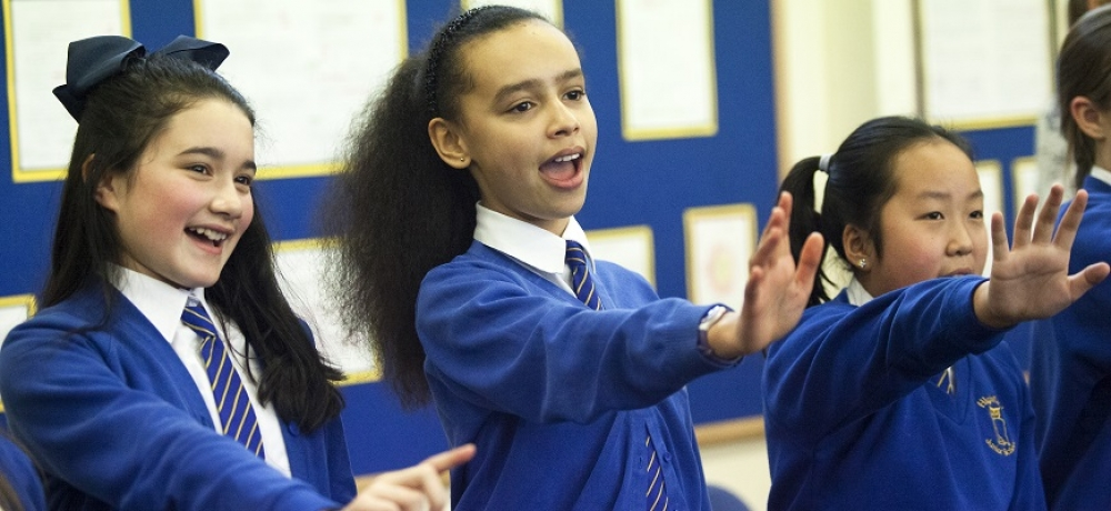 Images courtesy of author // Pupils at Highfield School enjoy the numerous benefits of group singing.