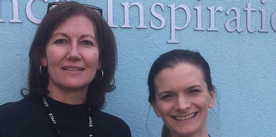 Left to right: Sandie Jones, NWAT finance officer, and Nikki Stansfield, office manager at St Martin's.
