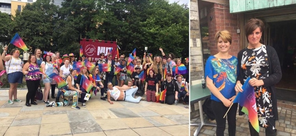 Claire and the NUT at Hull Pride 2017.